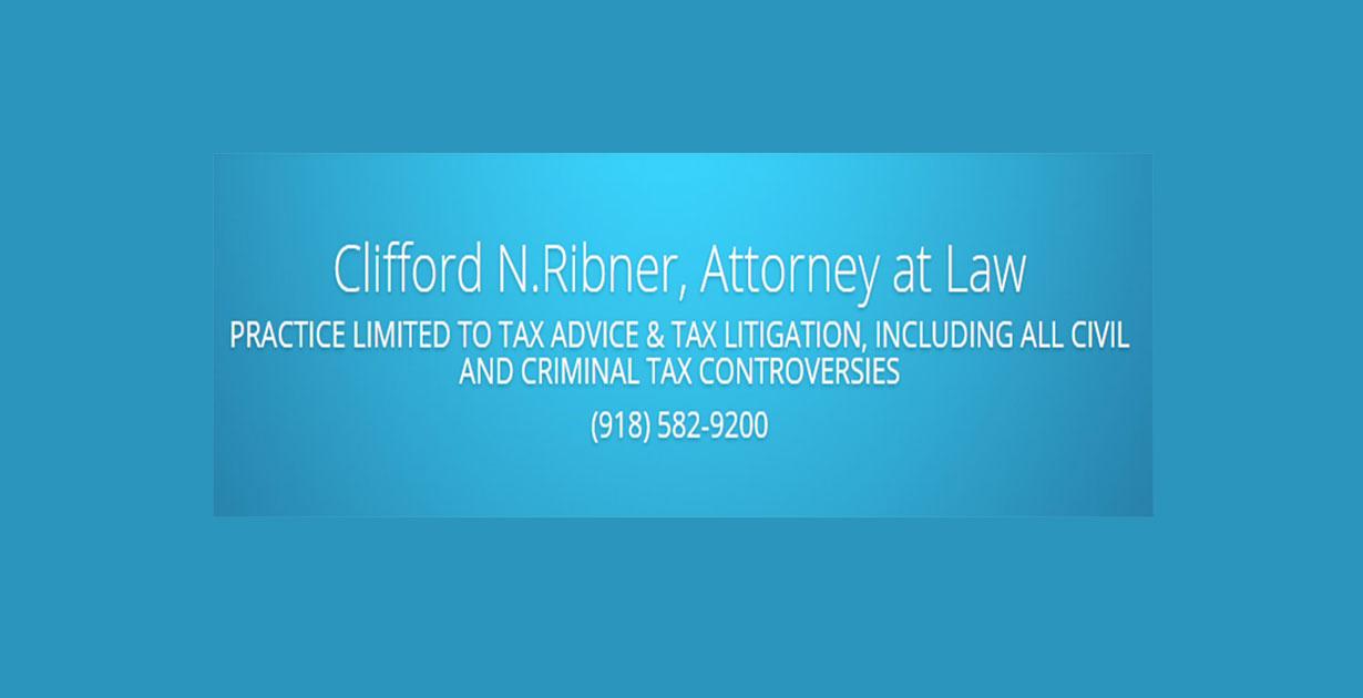Federal and Oklahoma Tax Attorney Clifford N. Ribner