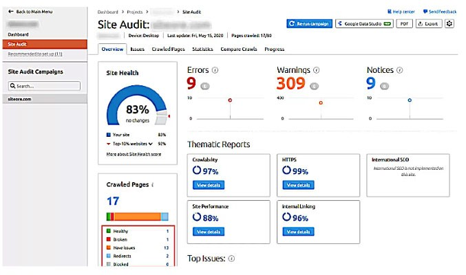 Find broken links with Google Analytics