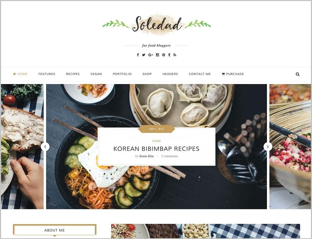 Top 6 WordPress Food Blog Themes